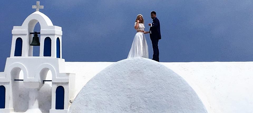 Lune de miel à Santorini